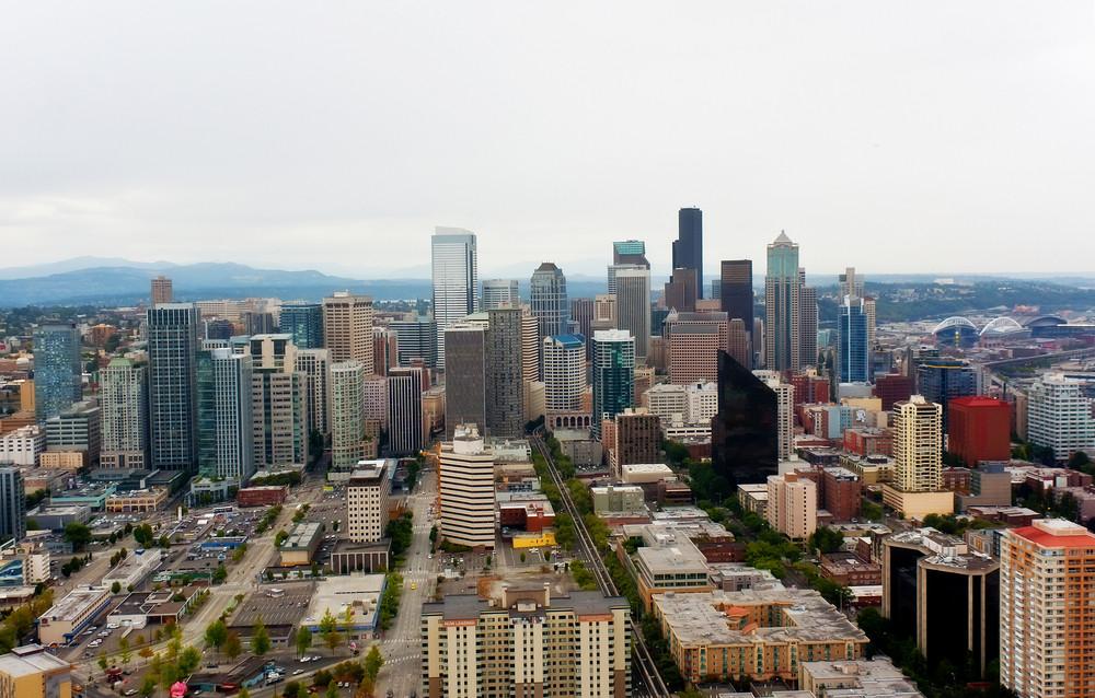 Seattle Tall Buildings Skyline