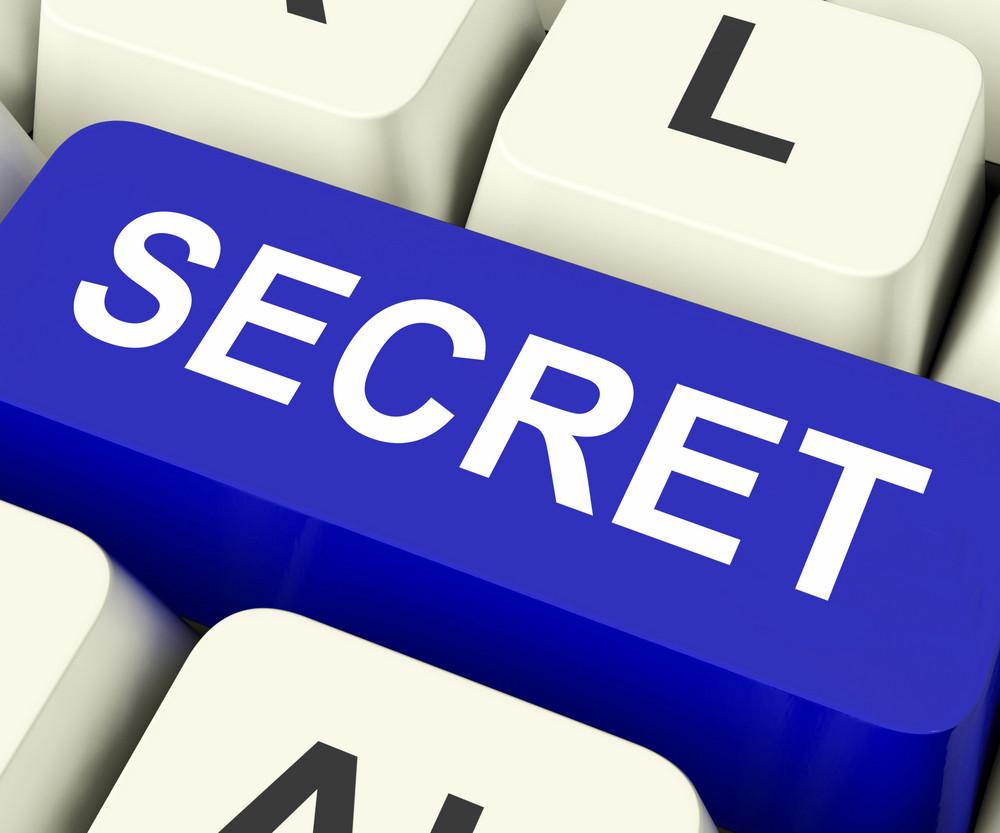 Secret Key Means Confidential Or Discreet