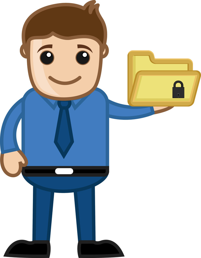 Secure Directory - Cartoon Vector
