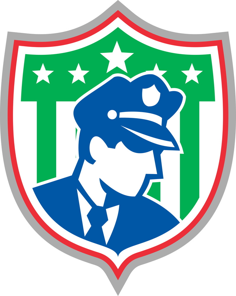 Security Guard Police Officer Shield