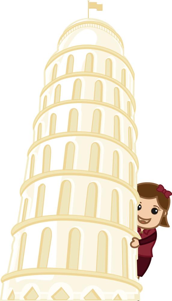 Seeing Behind Tower Of Pisa