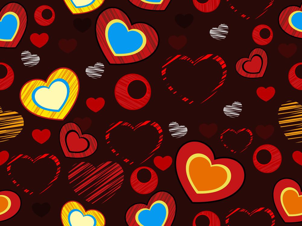Seemless Love Heart Pattern.vector Illustration.