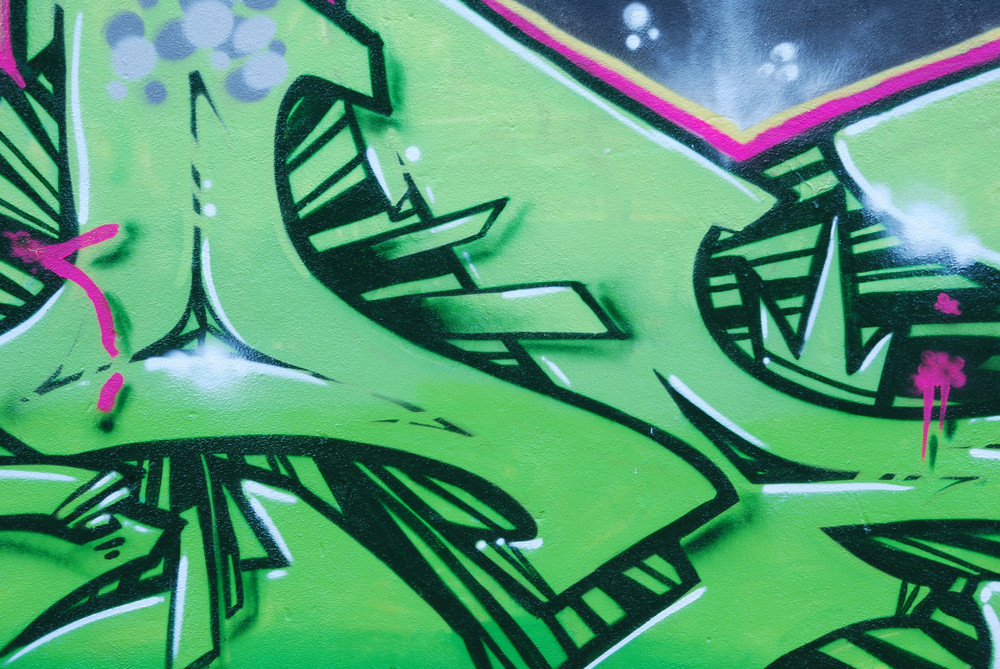 Segment Of A Colorful Graffiti On A Wall