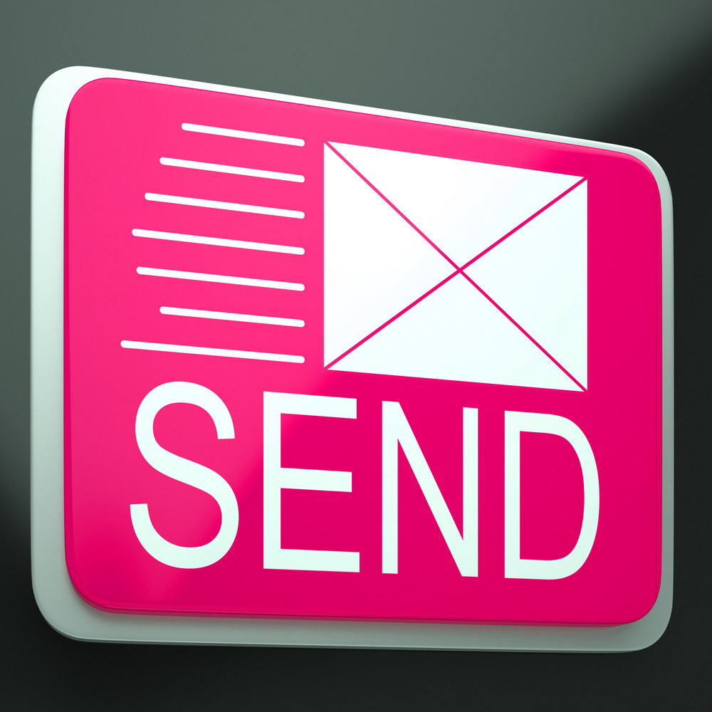 Send Envelope Shows Electronic Mailbox Internet Communication