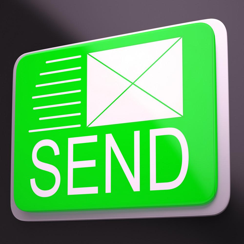 Send Envelope Shows Electronic Message Worldwide Communication