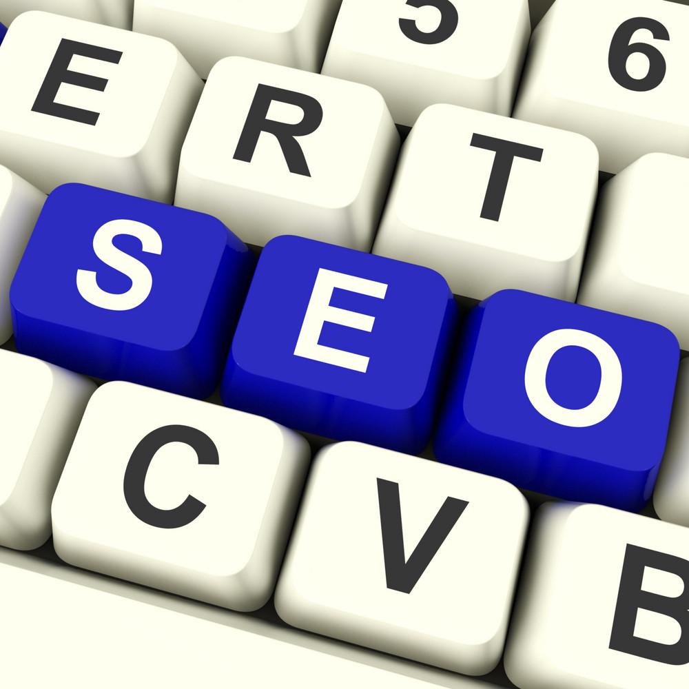 Seo Keys Representing Internet Optimization And Promotion