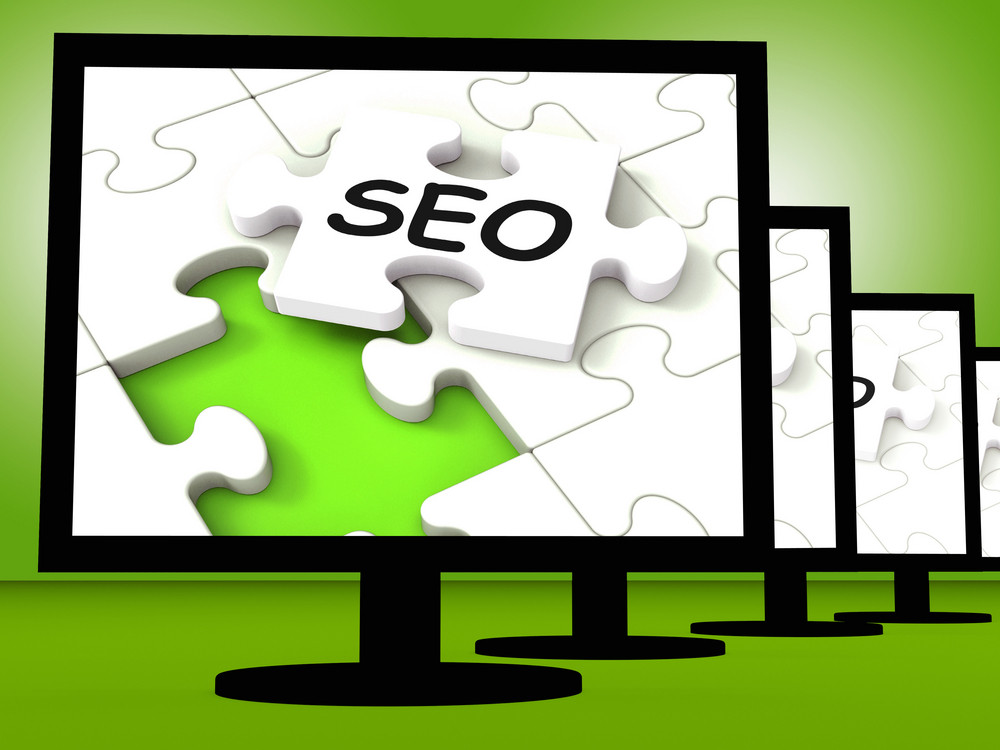 Seo On Monitors Showing Optimized Search
