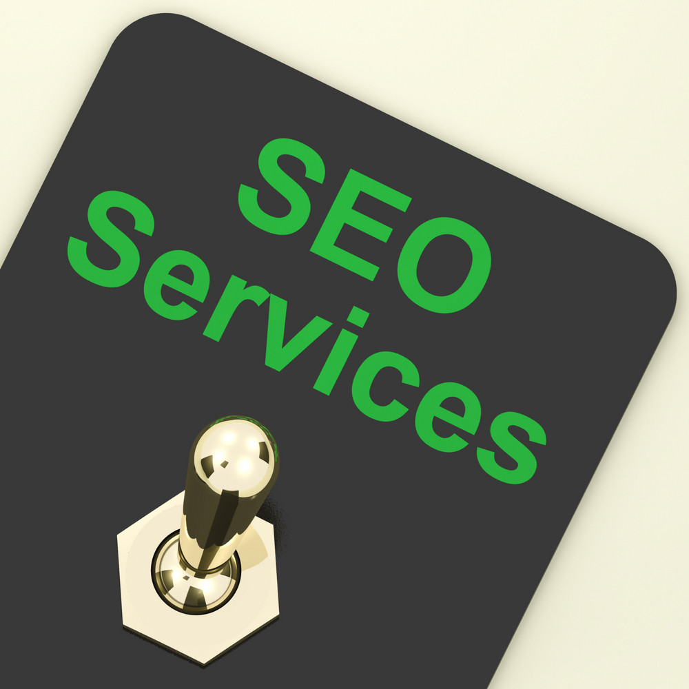 Seo Services Switch Representing Internet Optimization And Promotion