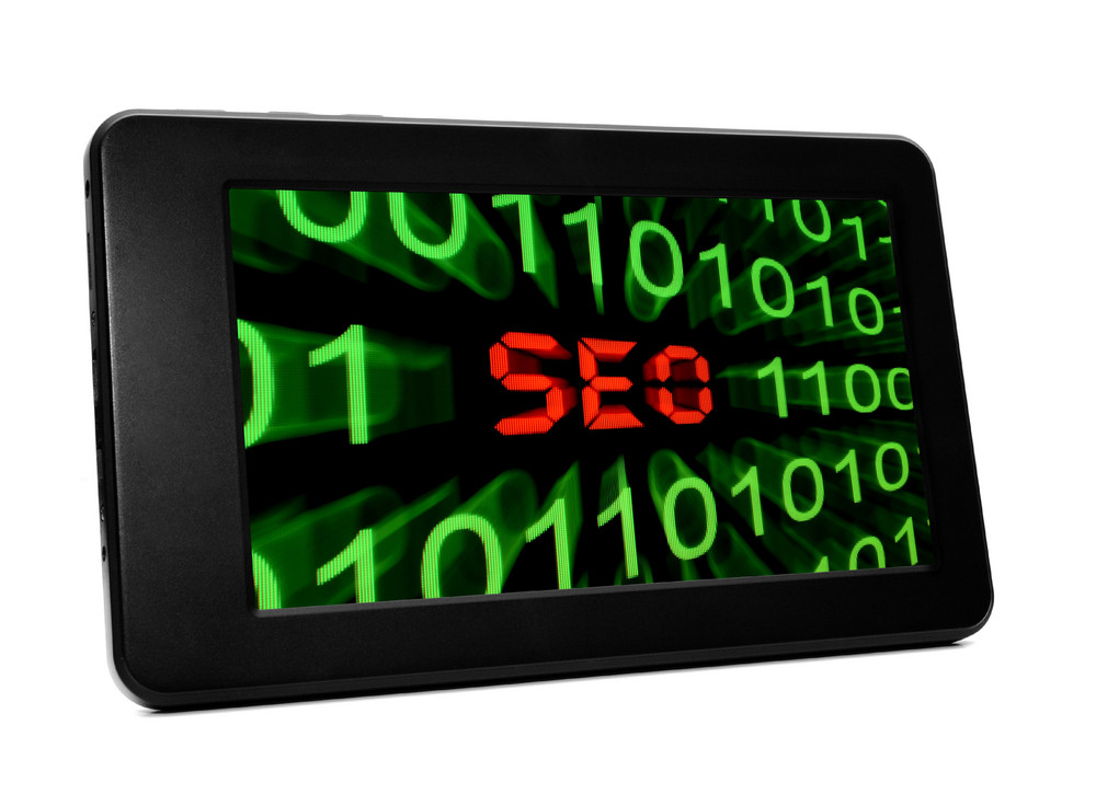 Seo Text On Pc Tablet