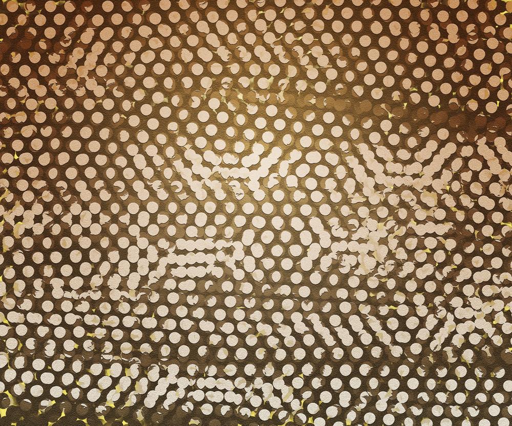 Sepia Vintage Dots Texture