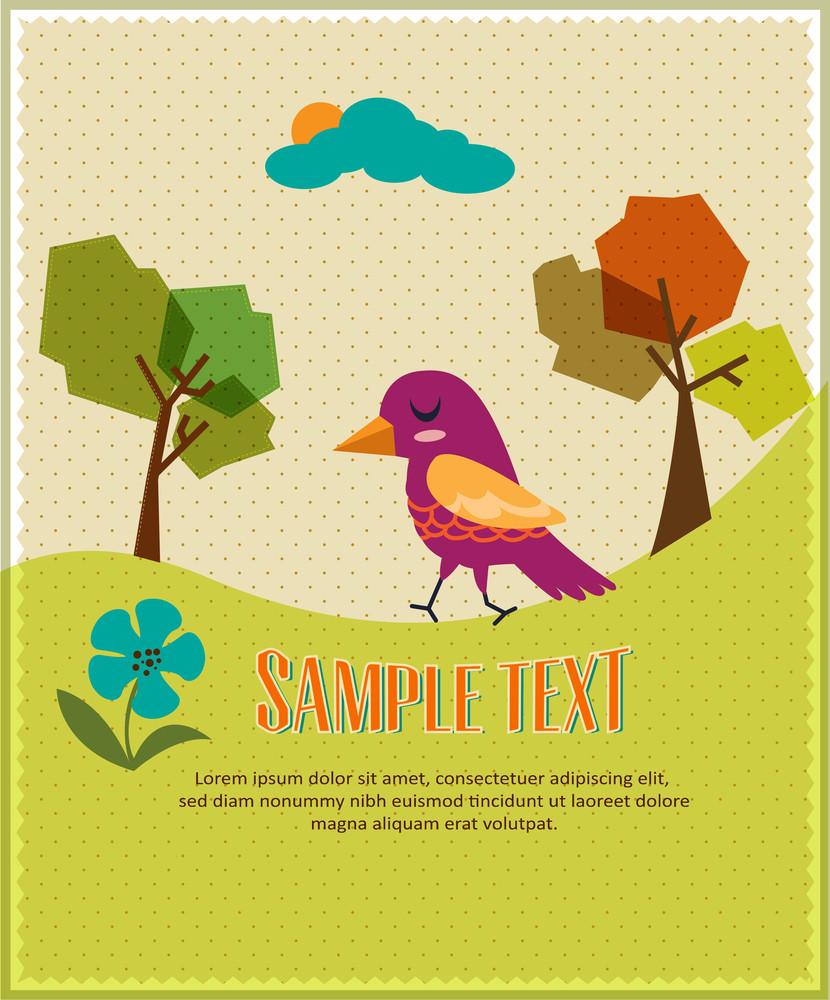 Serene Landscape (editable Text)