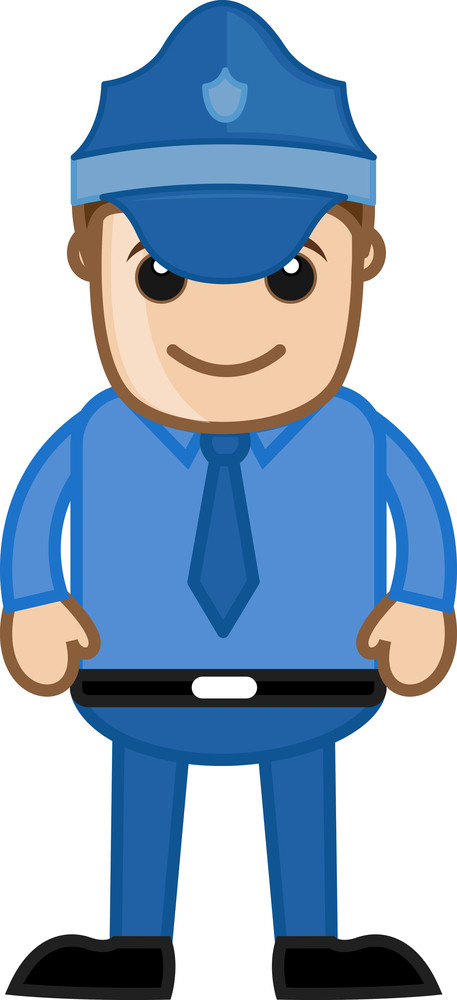 Serviceman - Büro Corporate-Cartoon Leute