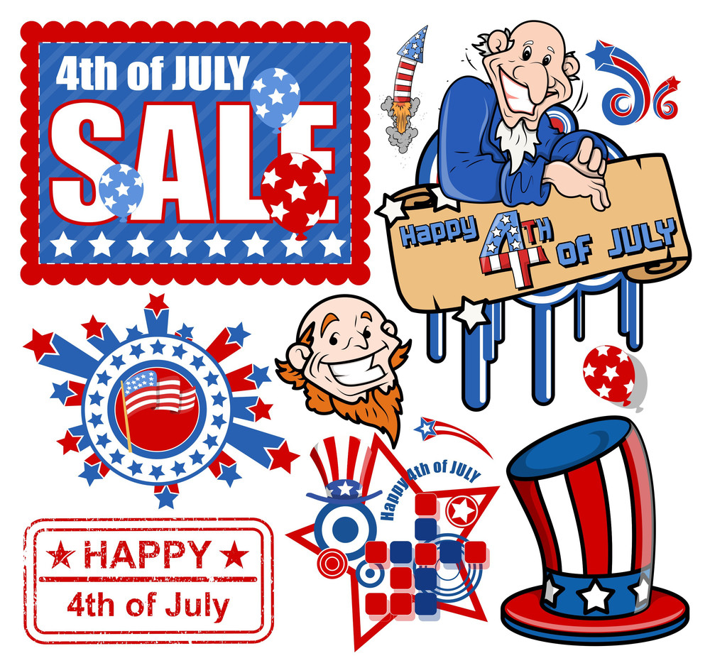 Set For 4th Of July Vectors
