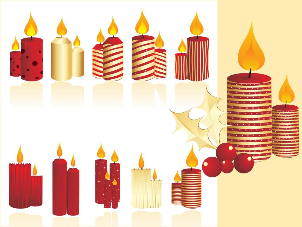 Set Of Christmas Candle