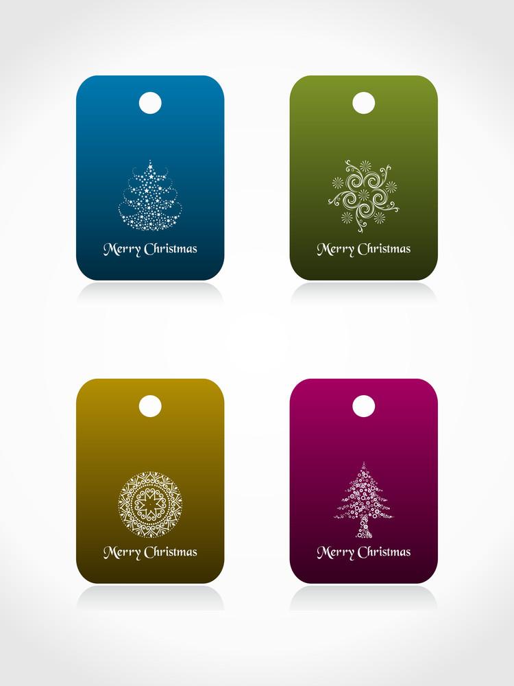 Set Of Christmas Sale Tag