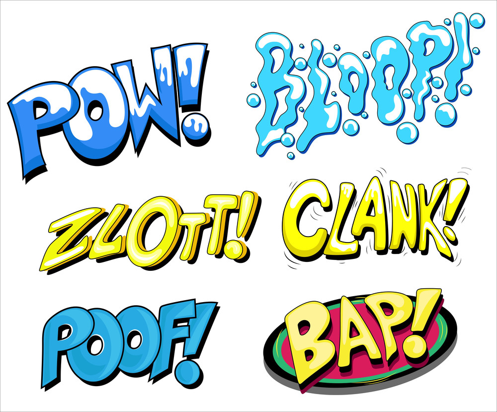Set Of Comic Expression Vector Text