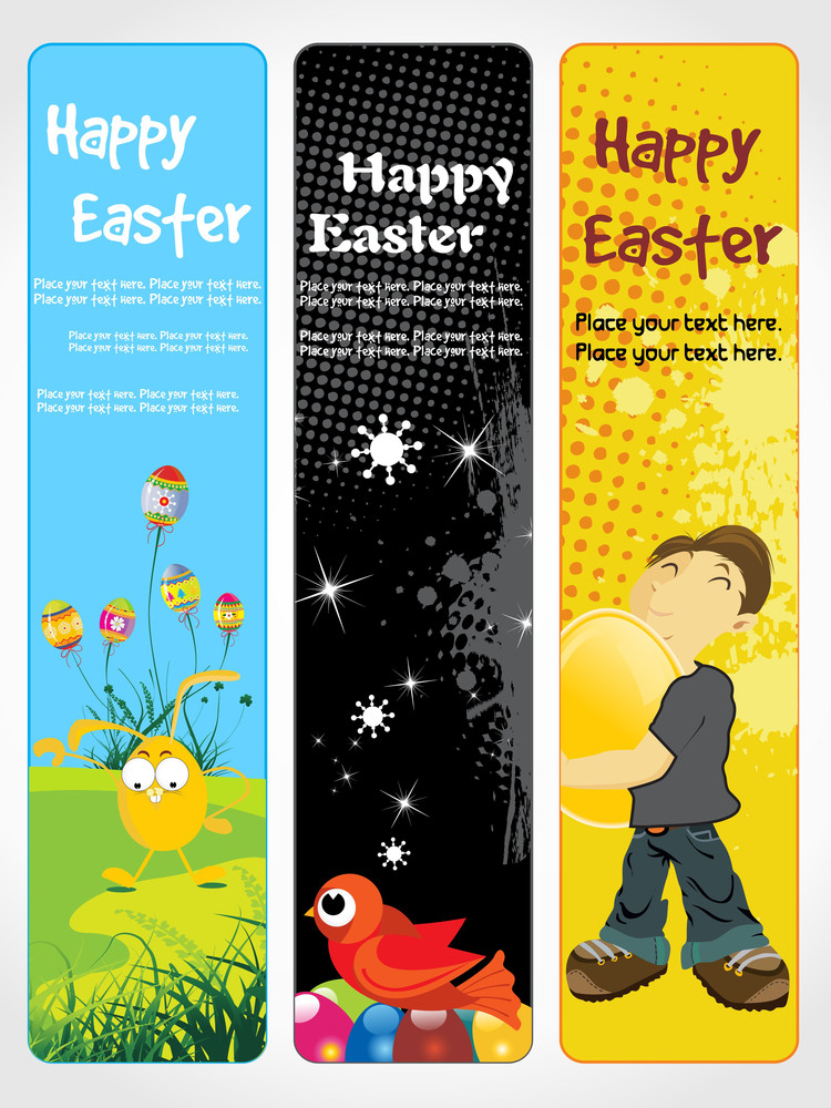 Set Of Easter Day Banner