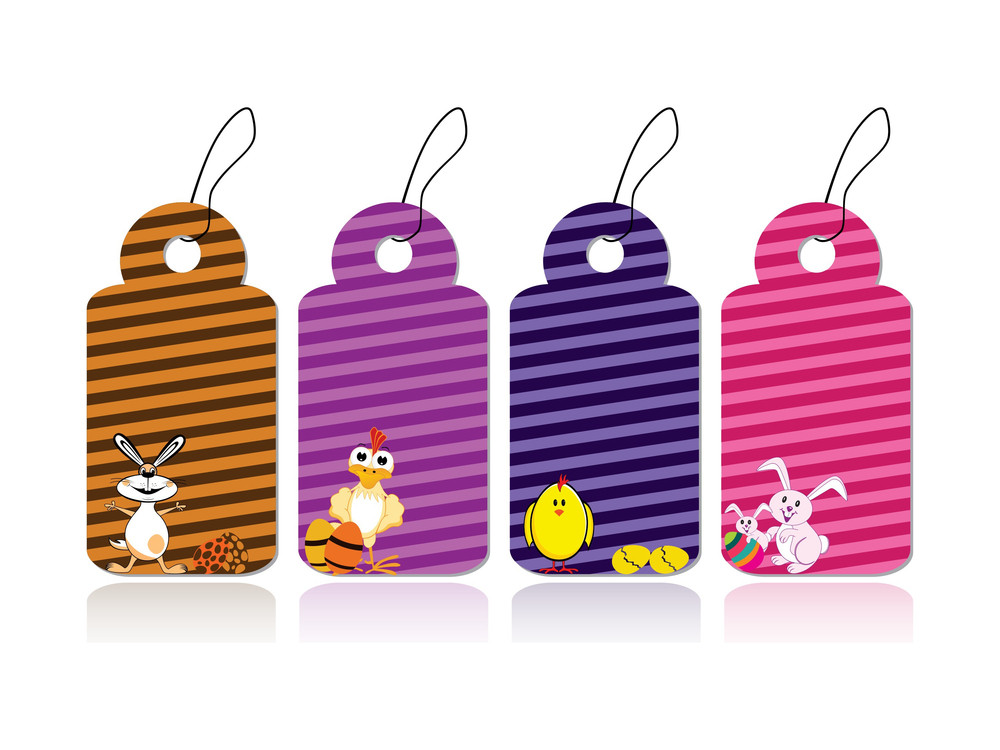 Set Of Easter Day Tags