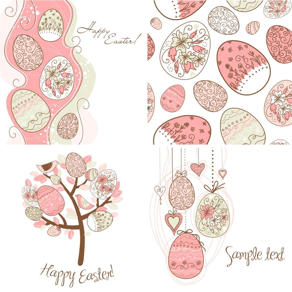 Set Of Easter Egg Backgrounds
