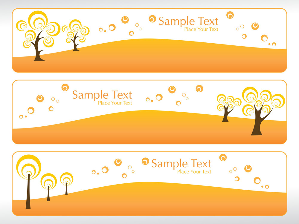 Set Of Ecology Banner
