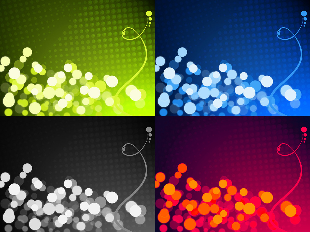 Set Of Four Abstract Background