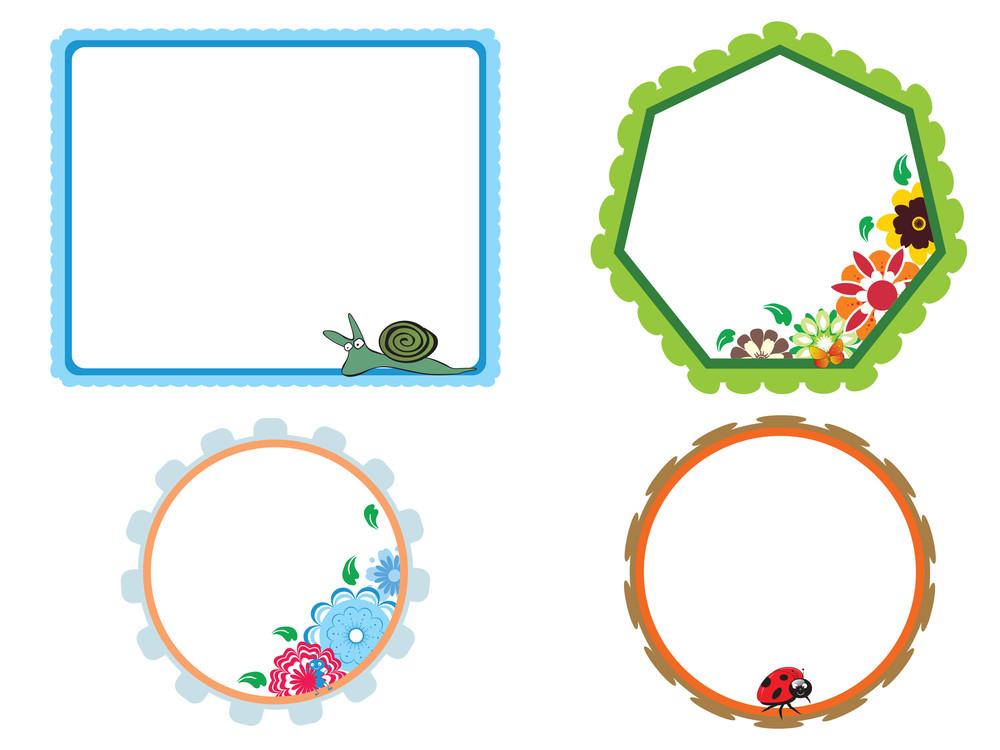 Set Of Four Blossom Pattern Frame