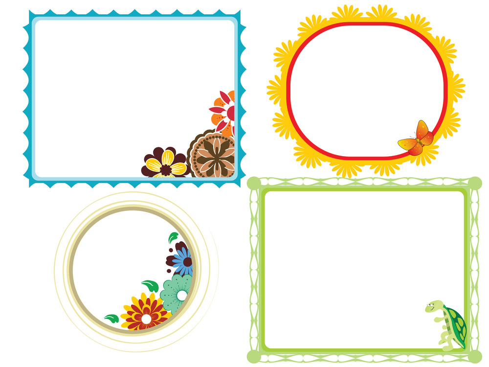 Set Of Funny Decorative Frames Royalty-Free Stock Image - Storyblocks