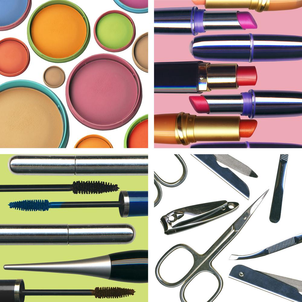 Set Of Makeup Images(face Powder