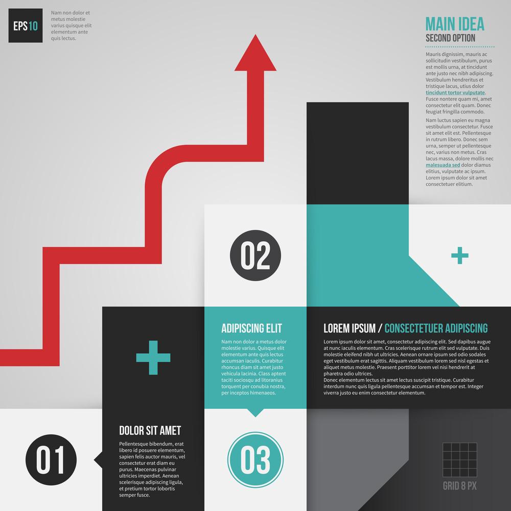 Set Of Modern Corporate Design Elements. Useful For Presentations Or Web Design. Eps10.
