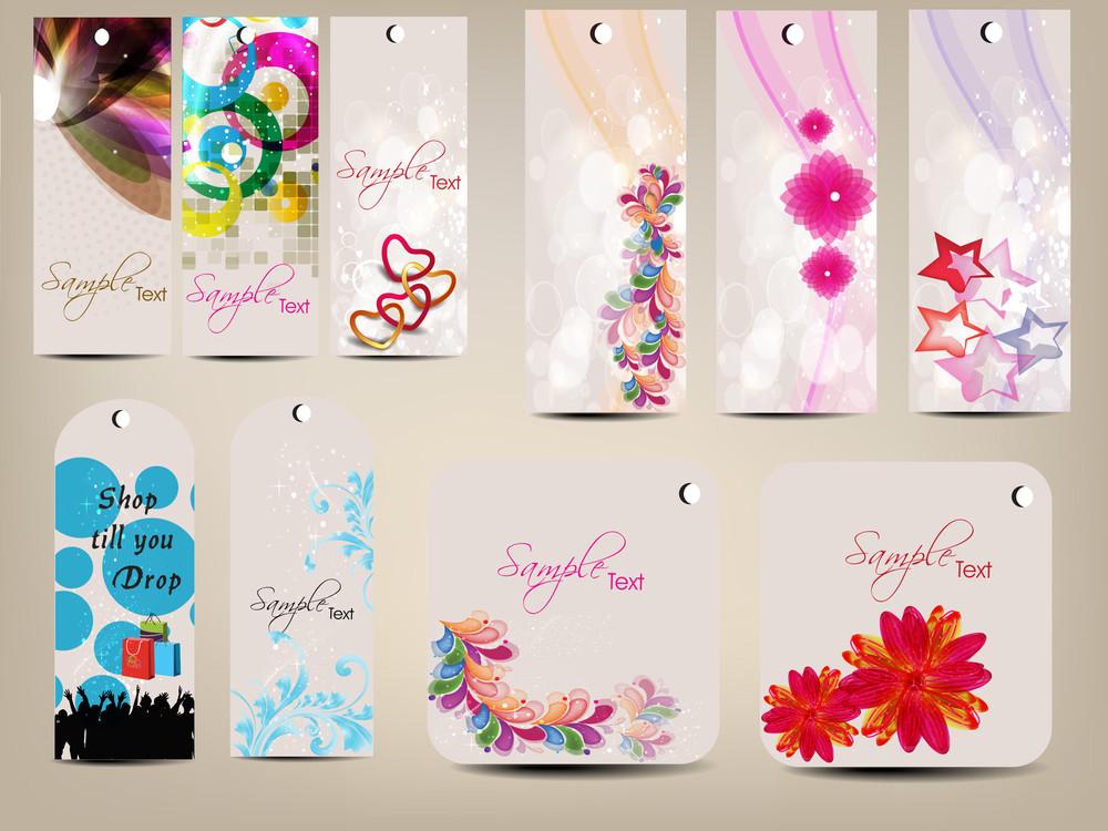 Set Of Multipurpose Colorfull Tags.