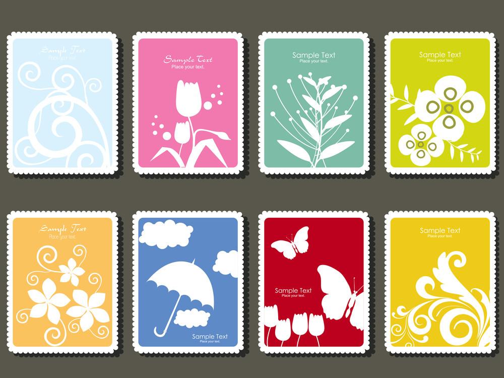 Set Of Postage Stamp