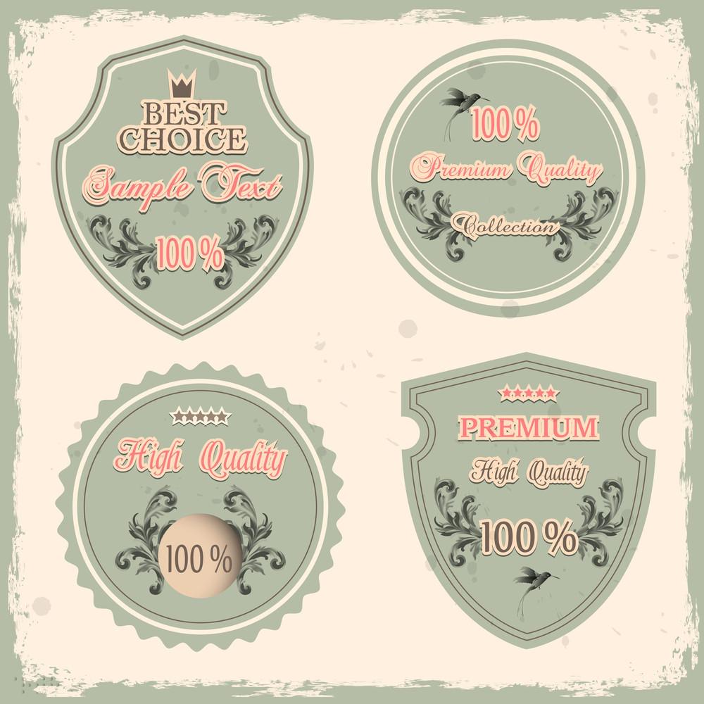 Set Of Premium Quality Labels