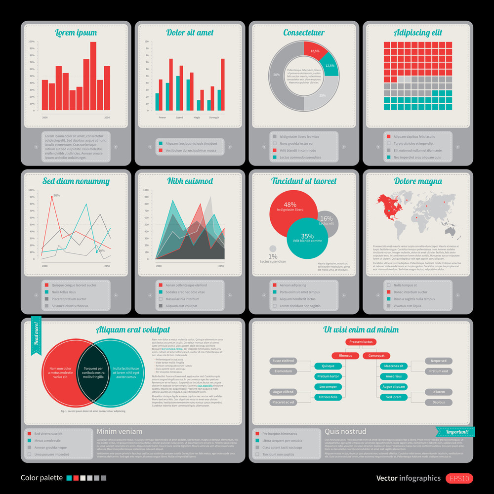Set Of Retro Elements For Infographic Design.