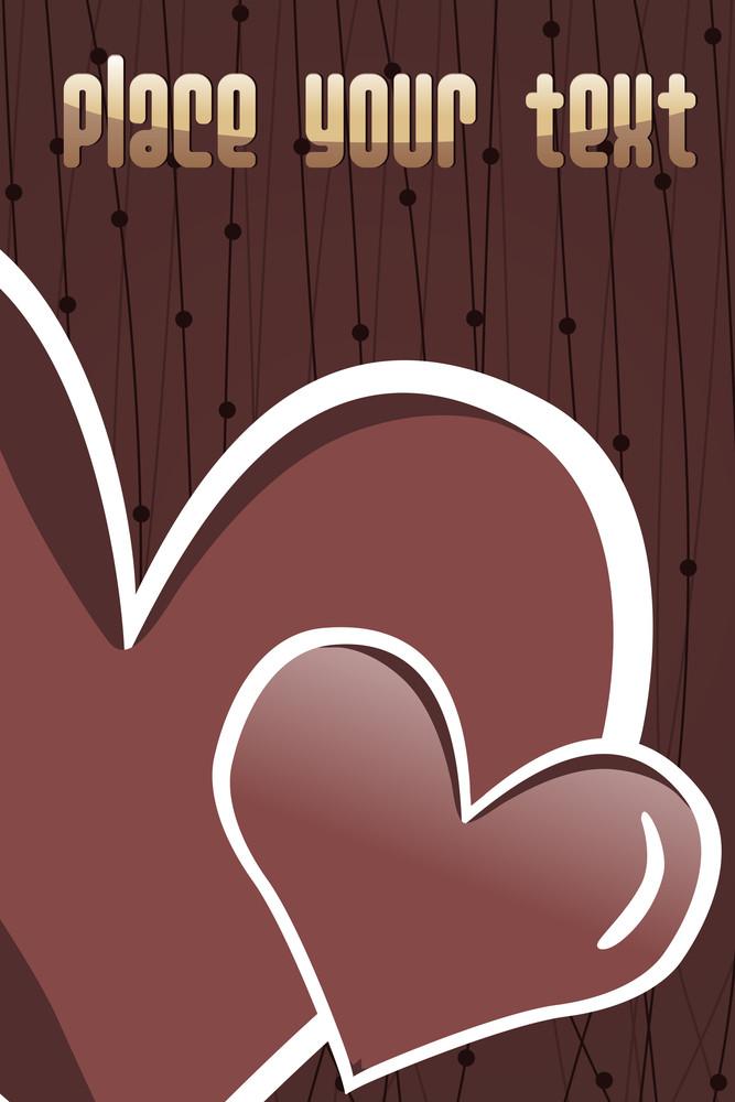 Set Of Romantic Chocolate Heart