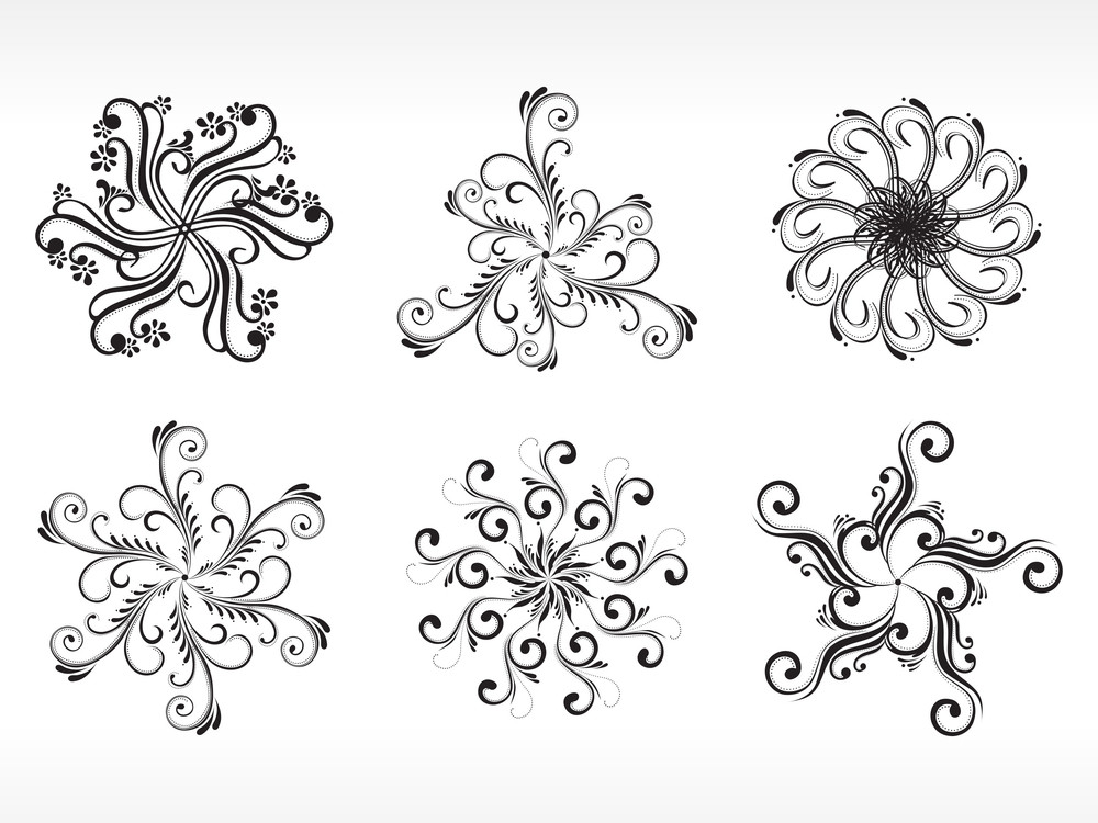 Set Of Six Bautiful Tattoo