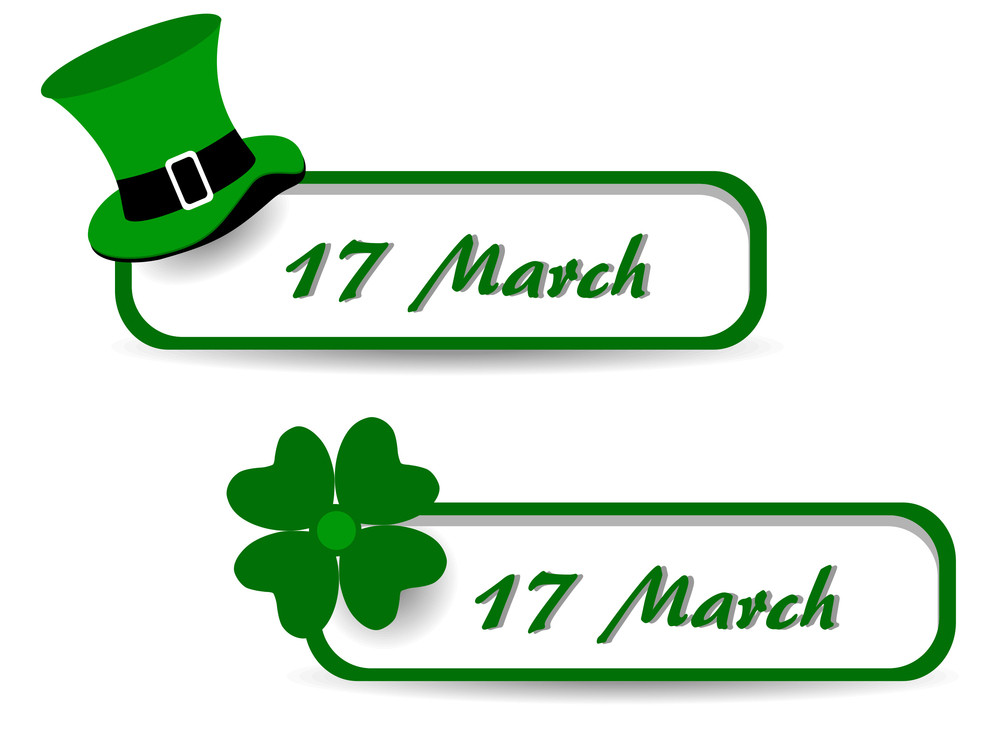 Set Of St. Patrick`s Day Banners.