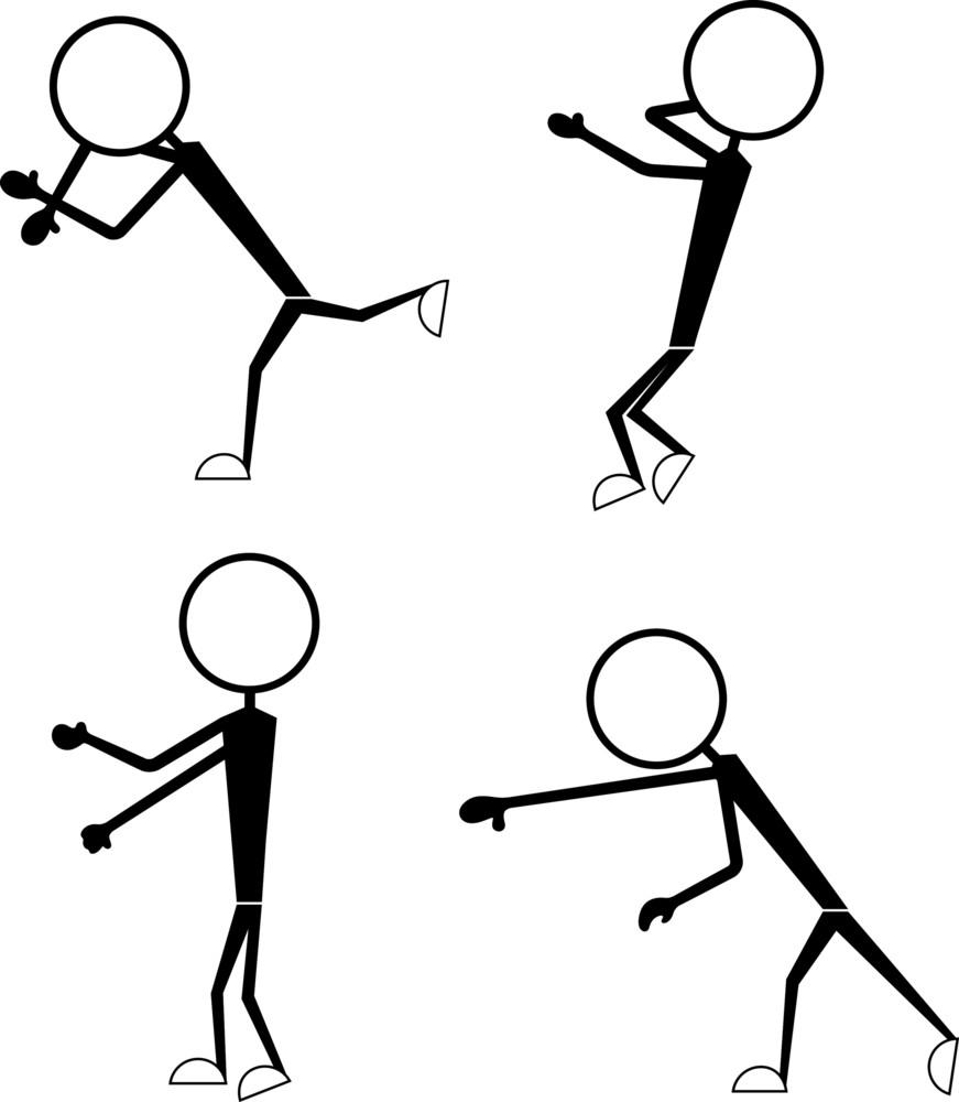 Set Of Stick Figure Poses