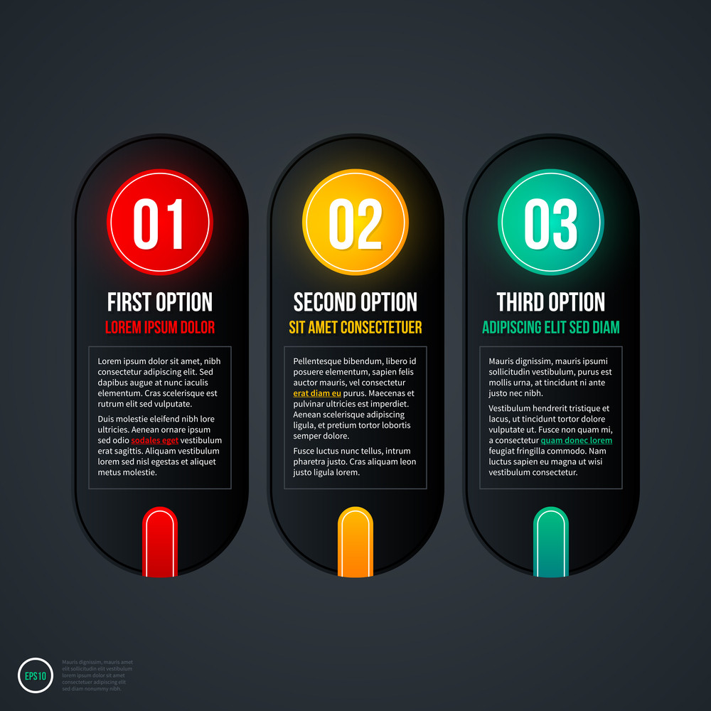 Set Of Three Vertical Web Banners. Eps 10