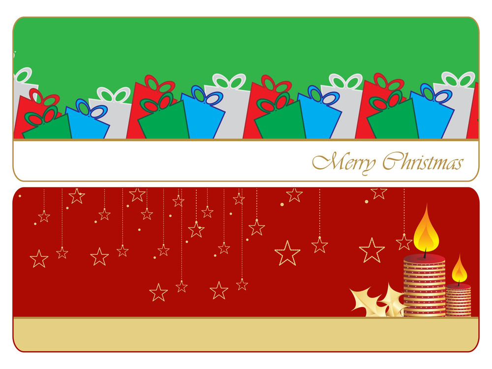 Set Of Two Merry Xmas Banner
