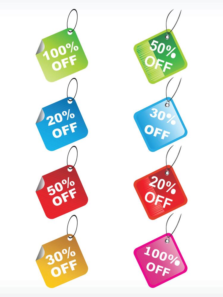 Set Of Vector Discount Tag
