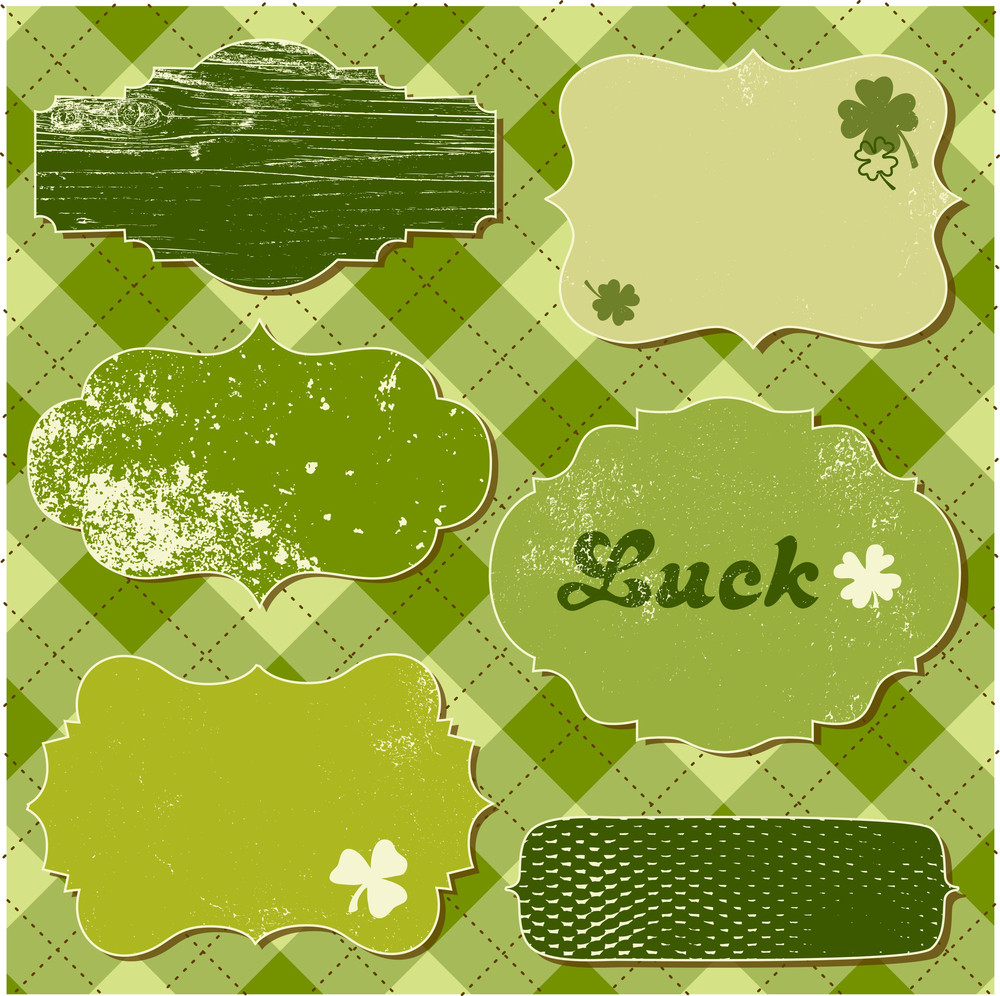 Set Of Vector Frames. St Patrick's Day Theme.