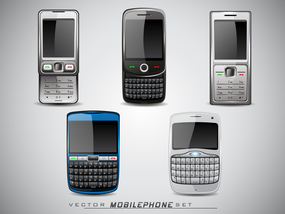 Set Of Vector Mobile Phone