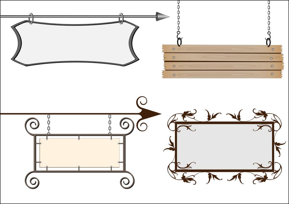 Set Of Vector Signboards