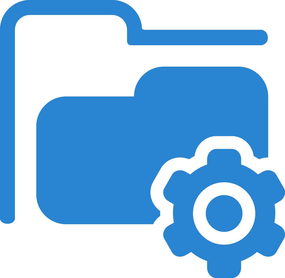 Settings Folder Simplicity Icon