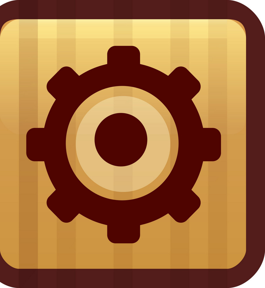 Settings Gear Brown Tiny App Icon