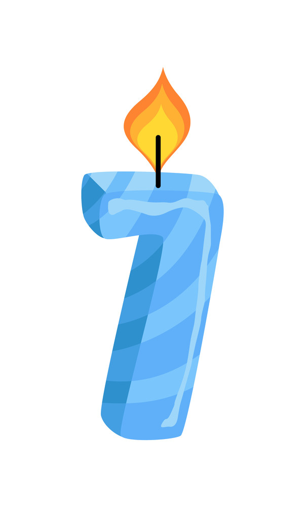 Seven Number Candle