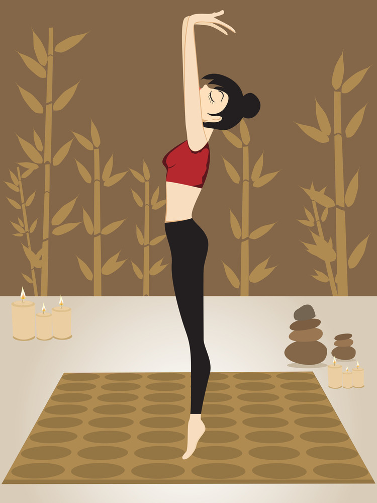 Sexy Girl Doing Yoga