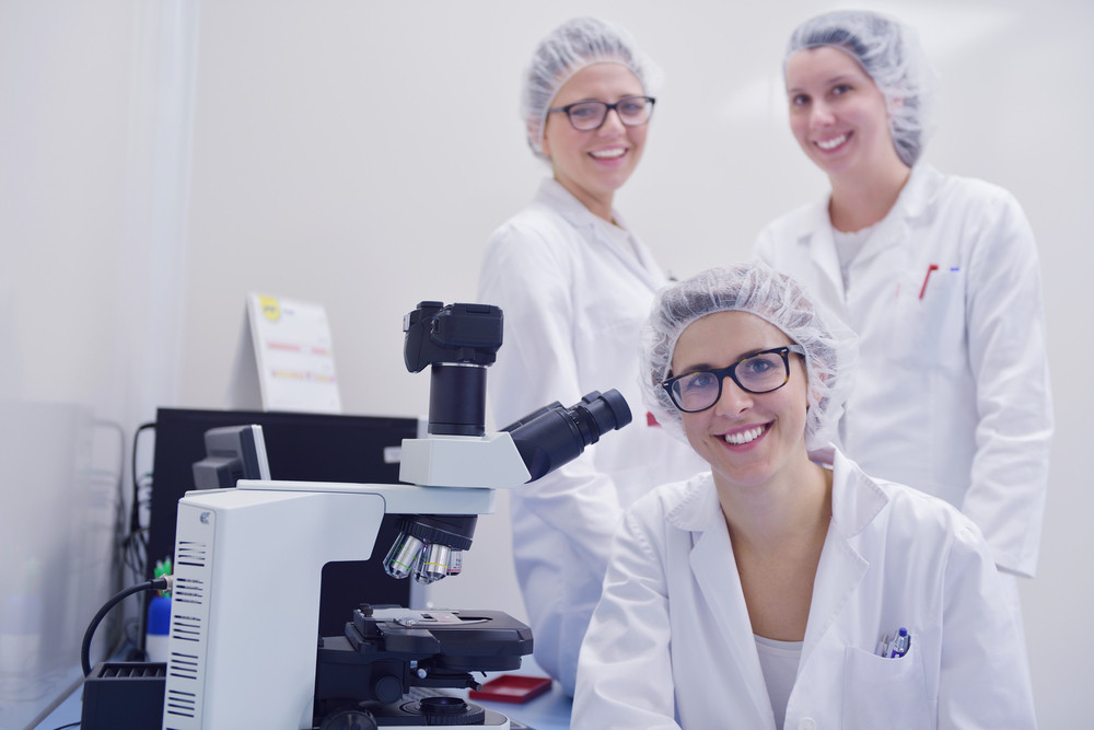 Scientists working at the laboratory
