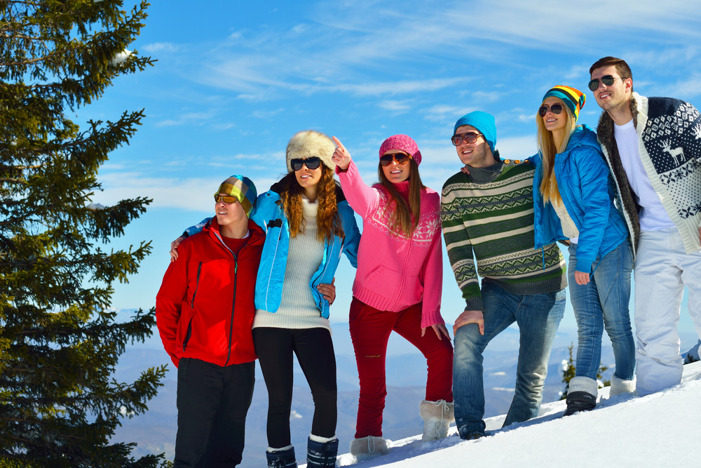 Winter fun with young people group