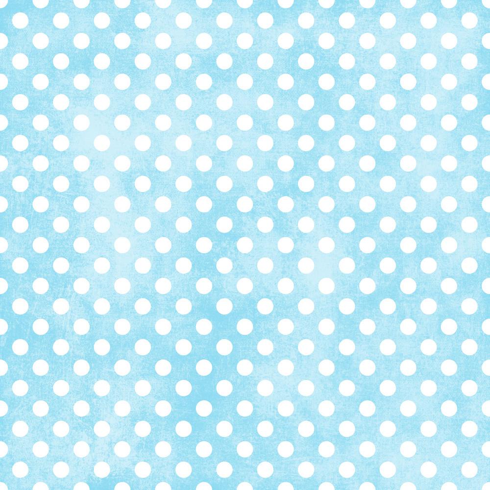 White Polka Dots Pattern On A Shabby Blue Background